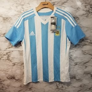 Adidas Argentina Boys Soccer Jersey Youth New Blue